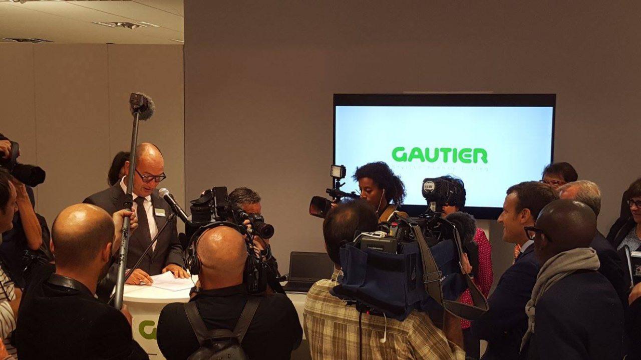 gautier accueille emmanuel macron franchise gautier. Black Bedroom Furniture Sets. Home Design Ideas