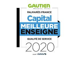 Gautier élu meilleure enseigne 2020